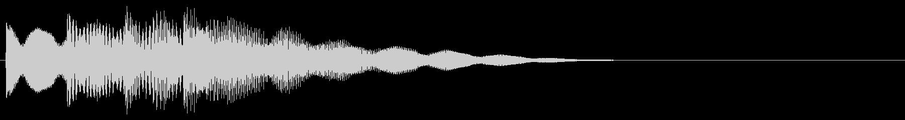 マレット系 決定音16(大)の未再生の波形
