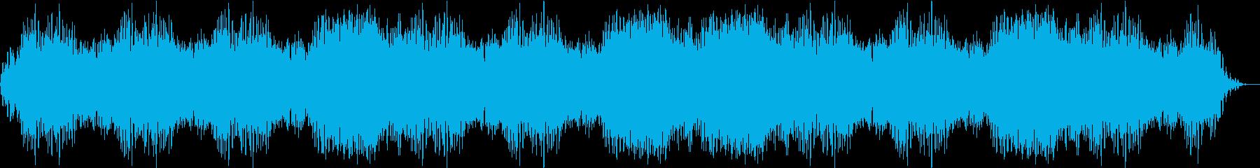 痛みを緩和するリラクゼーション音楽の再生済みの波形