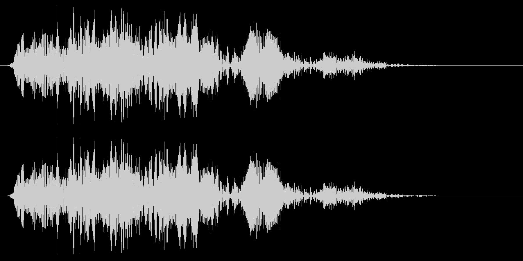 チュチュキュワッワ(鳴き声系)の未再生の波形