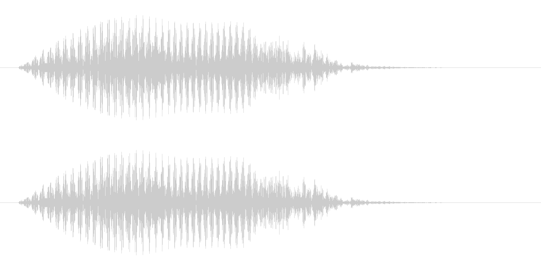 アシカがオォッ、と鳴く声の未再生の波形