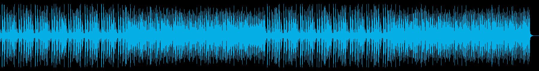 軽快なリズムの8ビット、チップチューン系の再生済みの波形