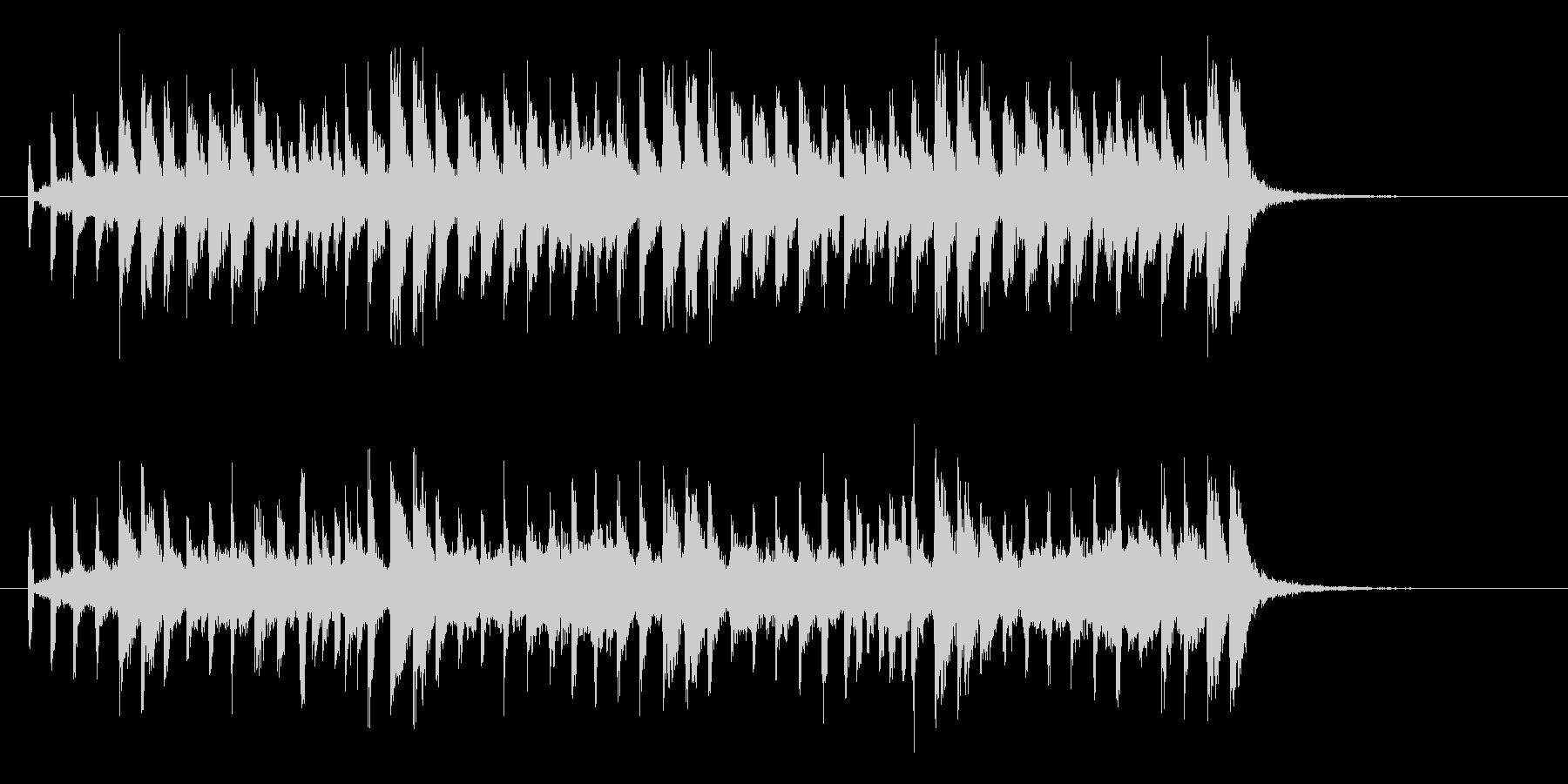 軽快なバンドによるポップスのジングルの未再生の波形
