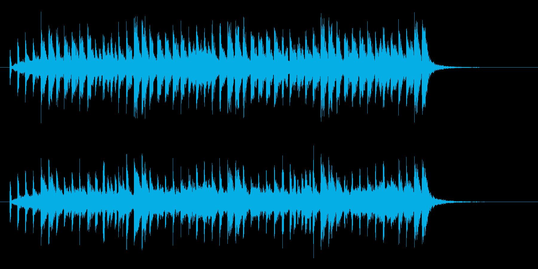 軽快なバンドによるポップスのジングルの再生済みの波形