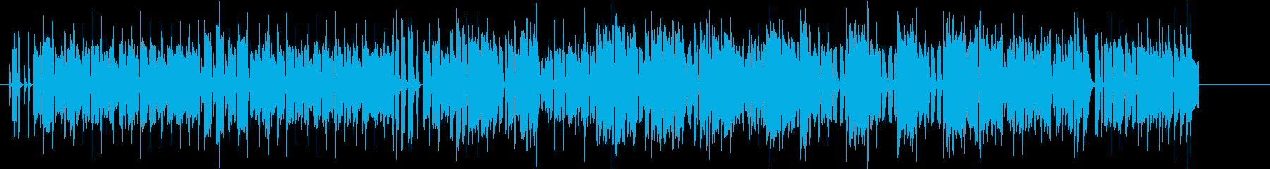 80年代ゲーム風・ポップなチップチューンの再生済みの波形