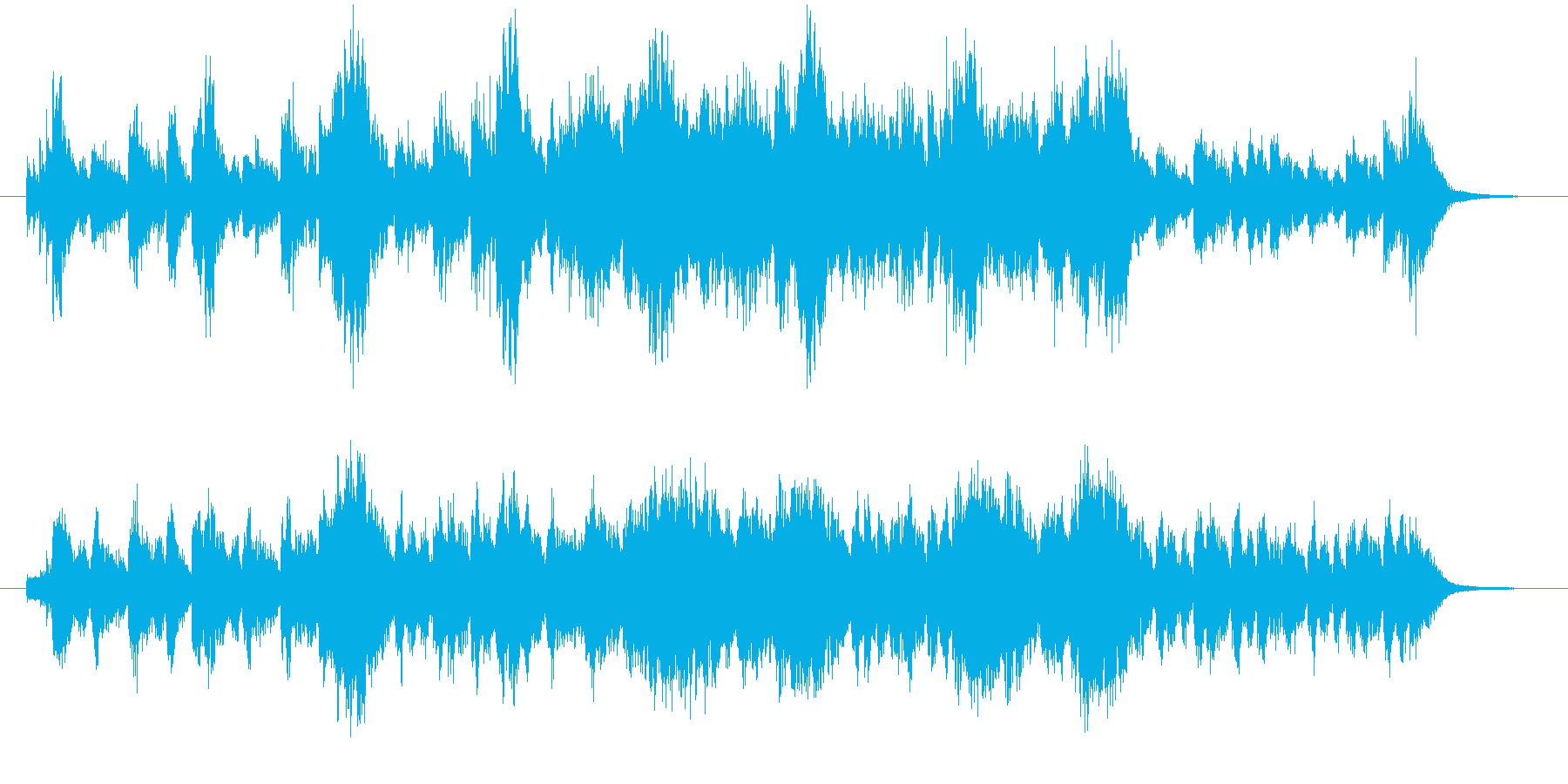緊迫した場面のオーケストラ系の再生済みの波形