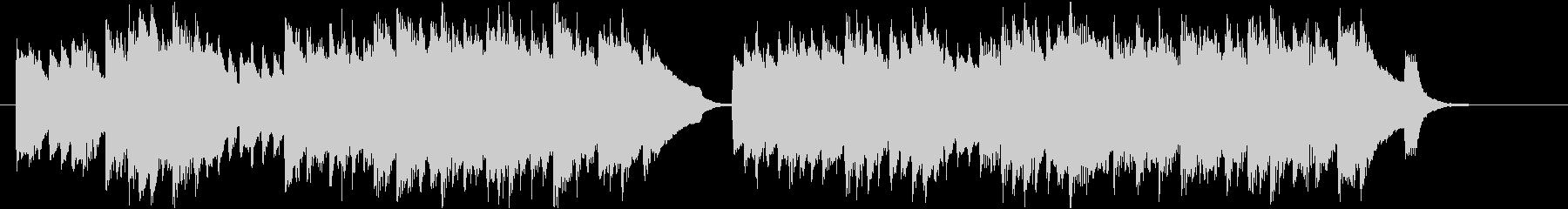 優雅なチェンバロのバロック風ジングルの未再生の波形