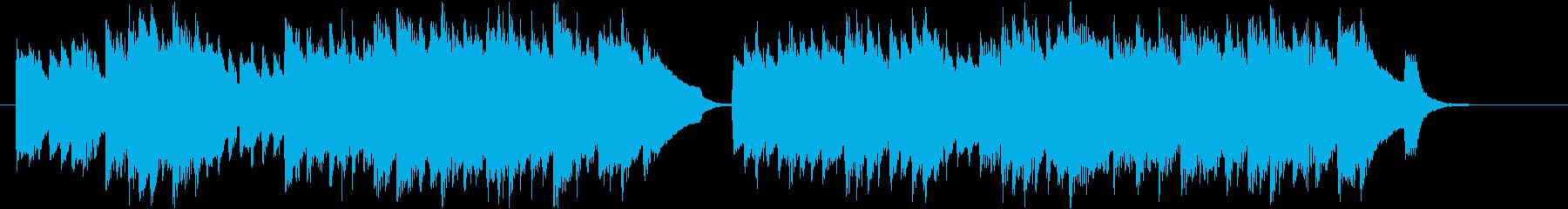 優雅なチェンバロのバロック風ジングルの再生済みの波形