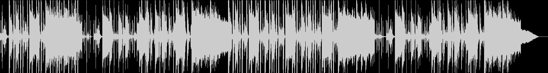 上品で遊び心のあるヒップホップ風BGMの未再生の波形