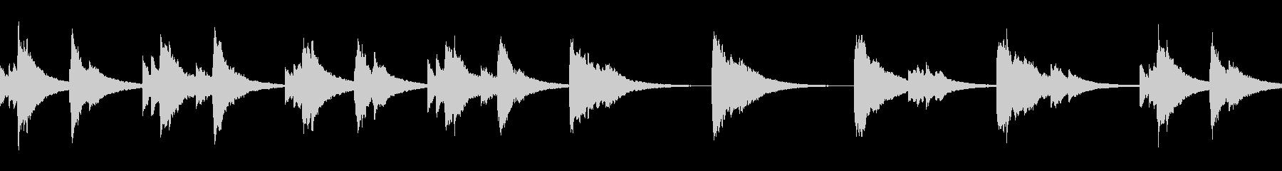 【すやすや…】優しいオルゴール風ループの未再生の波形