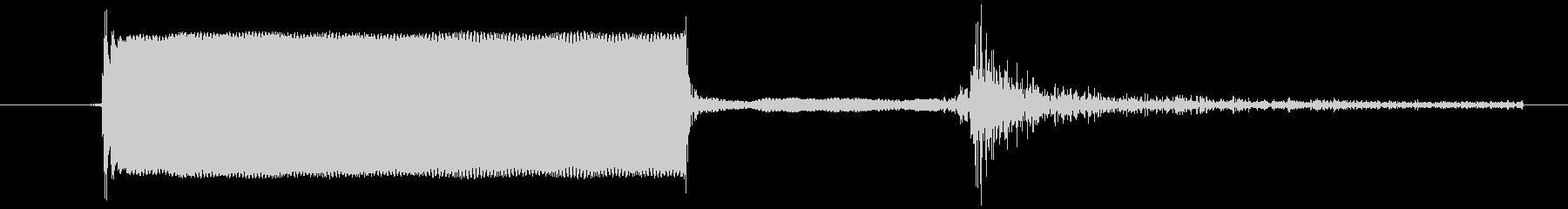 電子機器のスイッチを押した音ですの未再生の波形