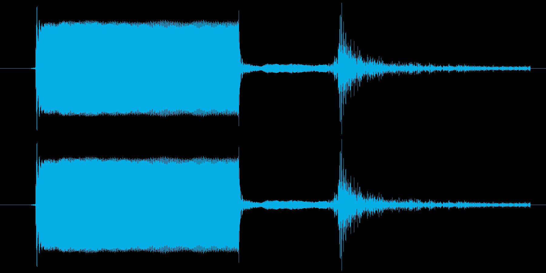 電子機器のスイッチを押した音ですの再生済みの波形