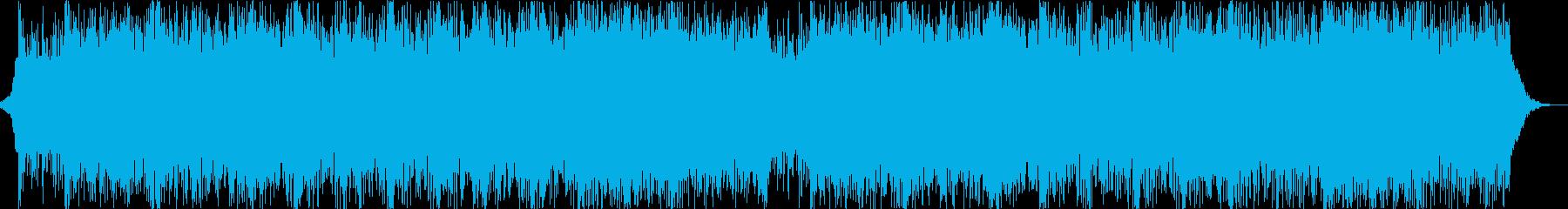 機械ビートとエスニックなコーラスの戦闘曲の再生済みの波形