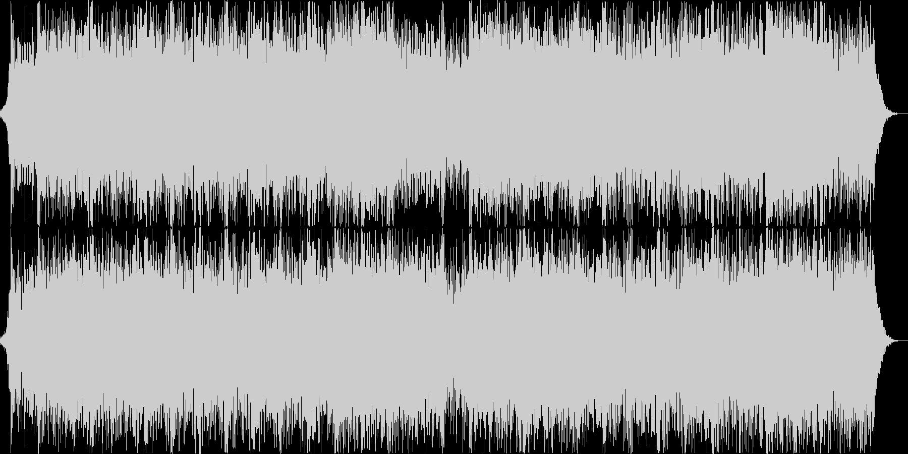 機械ビートとエスニックなコーラスの戦闘曲の未再生の波形