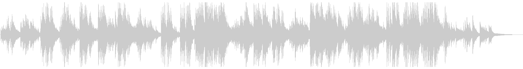 A song with a pleasant piano sound's unreproduced waveform