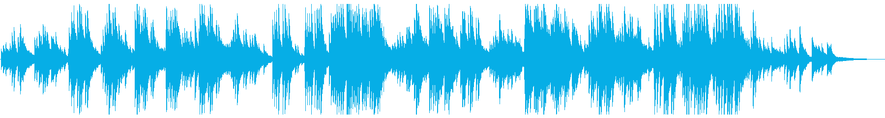 A song with a pleasant piano sound's reproduced waveform