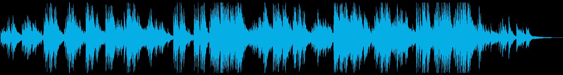 ピアノの響きが心地よい曲の再生済みの波形