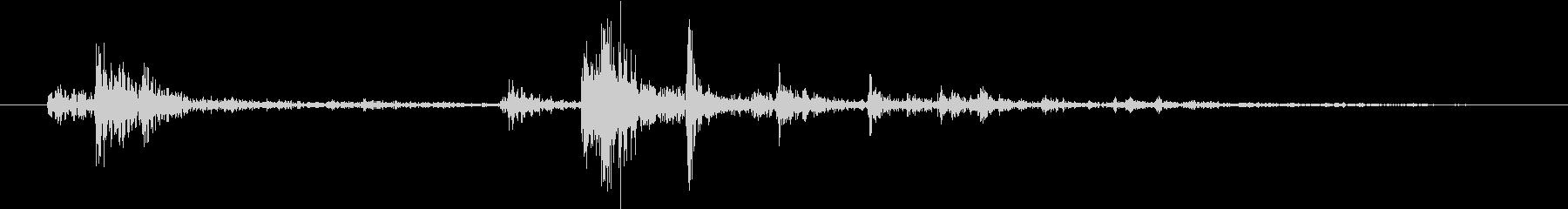 【生録音】弁当・惣菜パックの音10 フタの未再生の波形