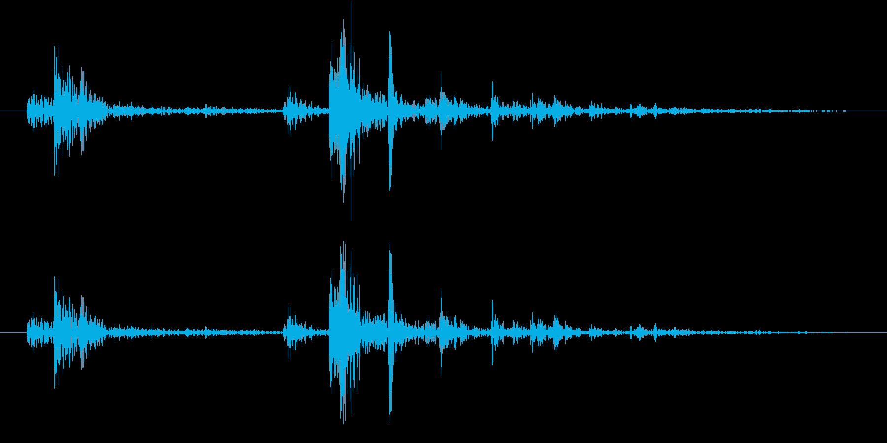 【生録音】弁当・惣菜パックの音10 フタの再生済みの波形
