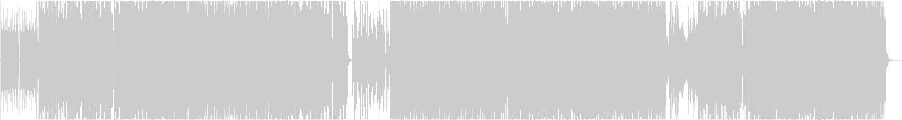 アニメ系ポップロックの未再生の波形