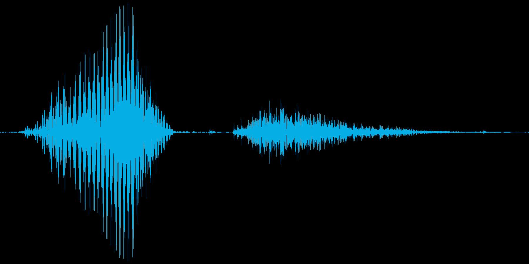 1(いち)の再生済みの波形
