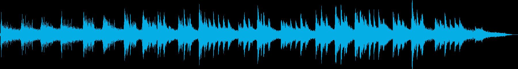 ピアノとシンセによる雪のイメージの再生済みの波形