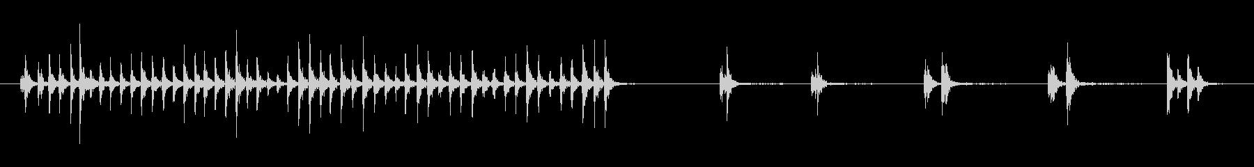 フィンガー、ドラミング、ウッド、フ...の未再生の波形