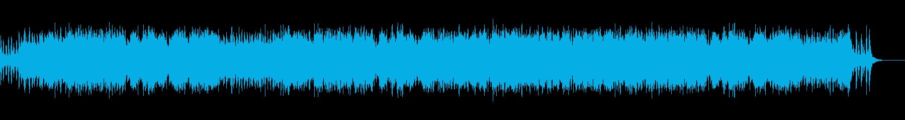 穏やかなストリングス曲の再生済みの波形