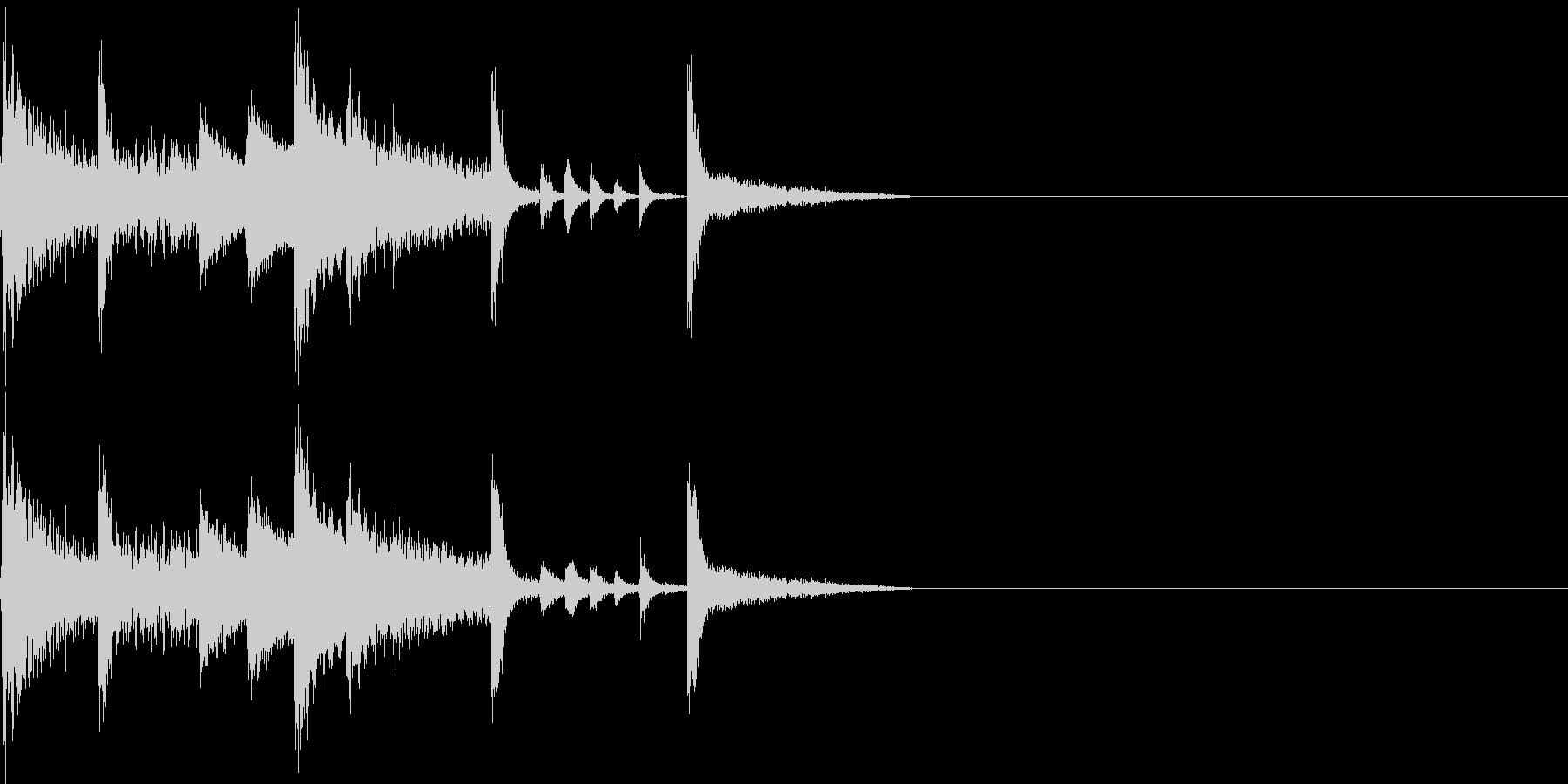 ほのぼの、ピコピコしたファミコンBGMの未再生の波形