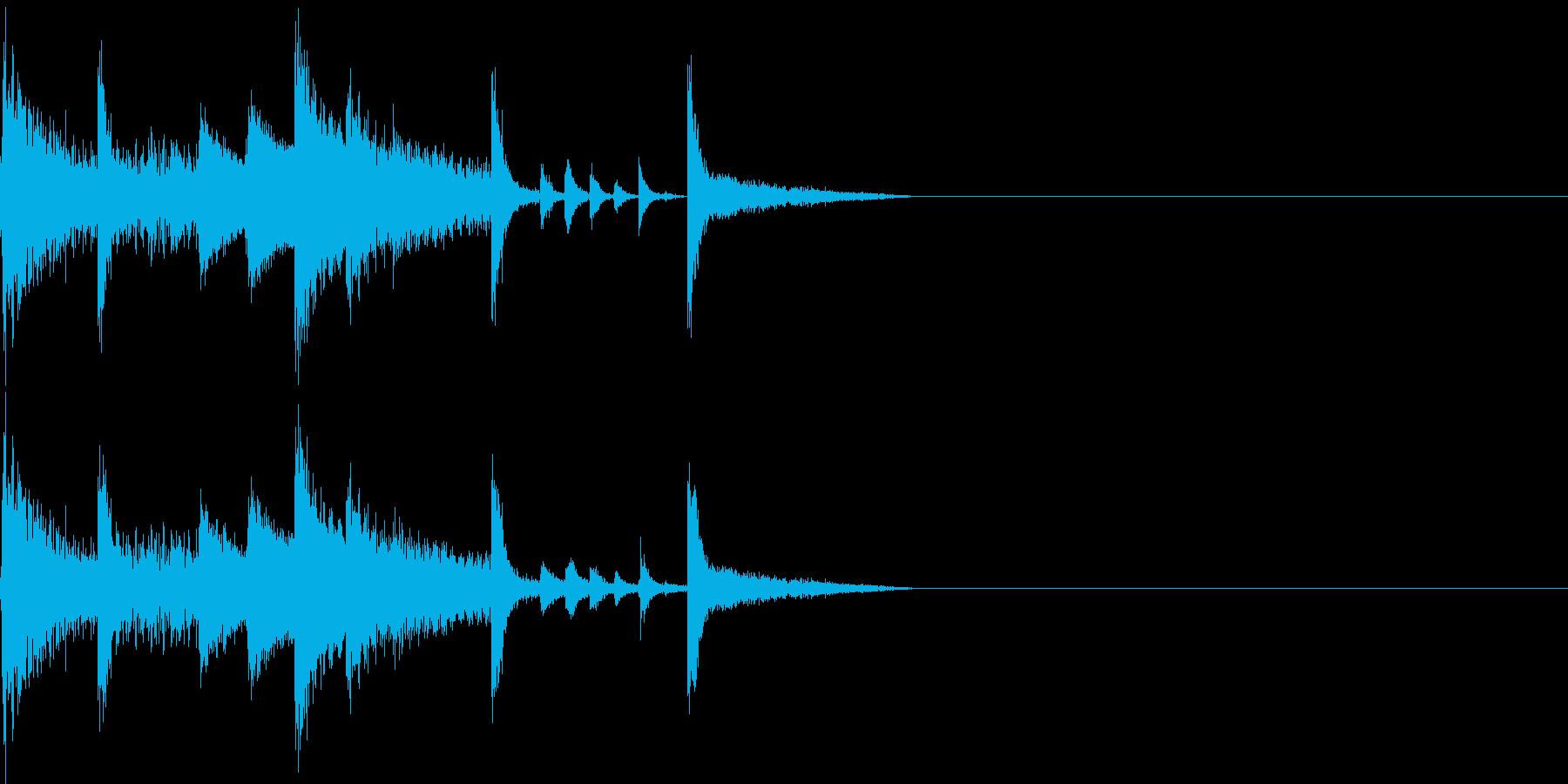 ほのぼの、ピコピコしたファミコンBGMの再生済みの波形