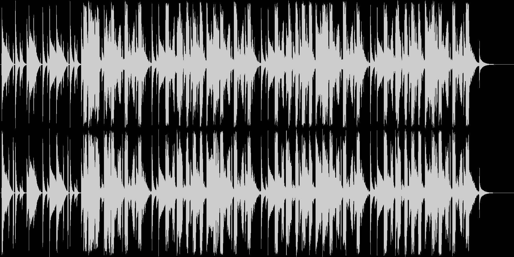 ポップでゆっくりしたシンセサイザーの曲の未再生の波形
