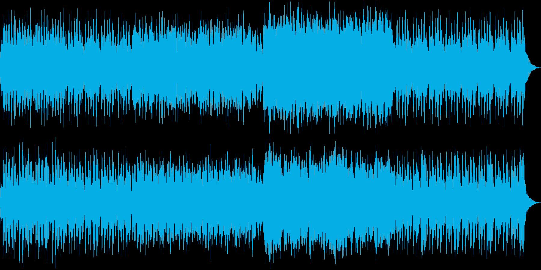 オーケストラによる怪しげなBGMの再生済みの波形