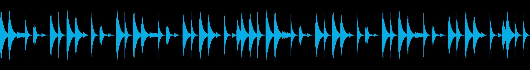 808音源を使用したシンプルなリズム05の再生済みの波形