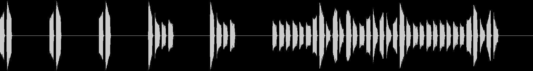 ピピッピピッピピピピッピピ…(目覚まし)の未再生の波形