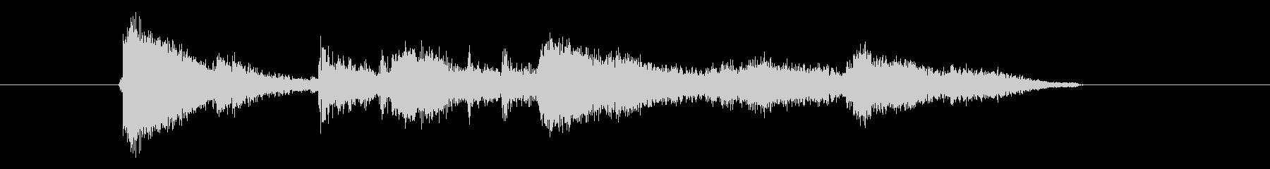 陶器の割れる音の未再生の波形