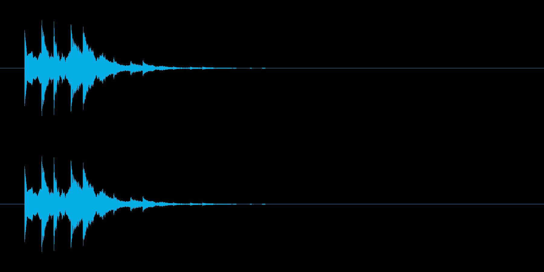 チロチロリーン キラーンな回復魔法音ですの再生済みの波形