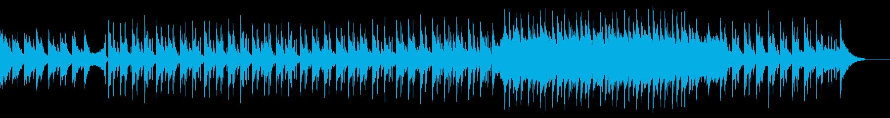 キラキラしたピアノとベルの温かいBGMの再生済みの波形