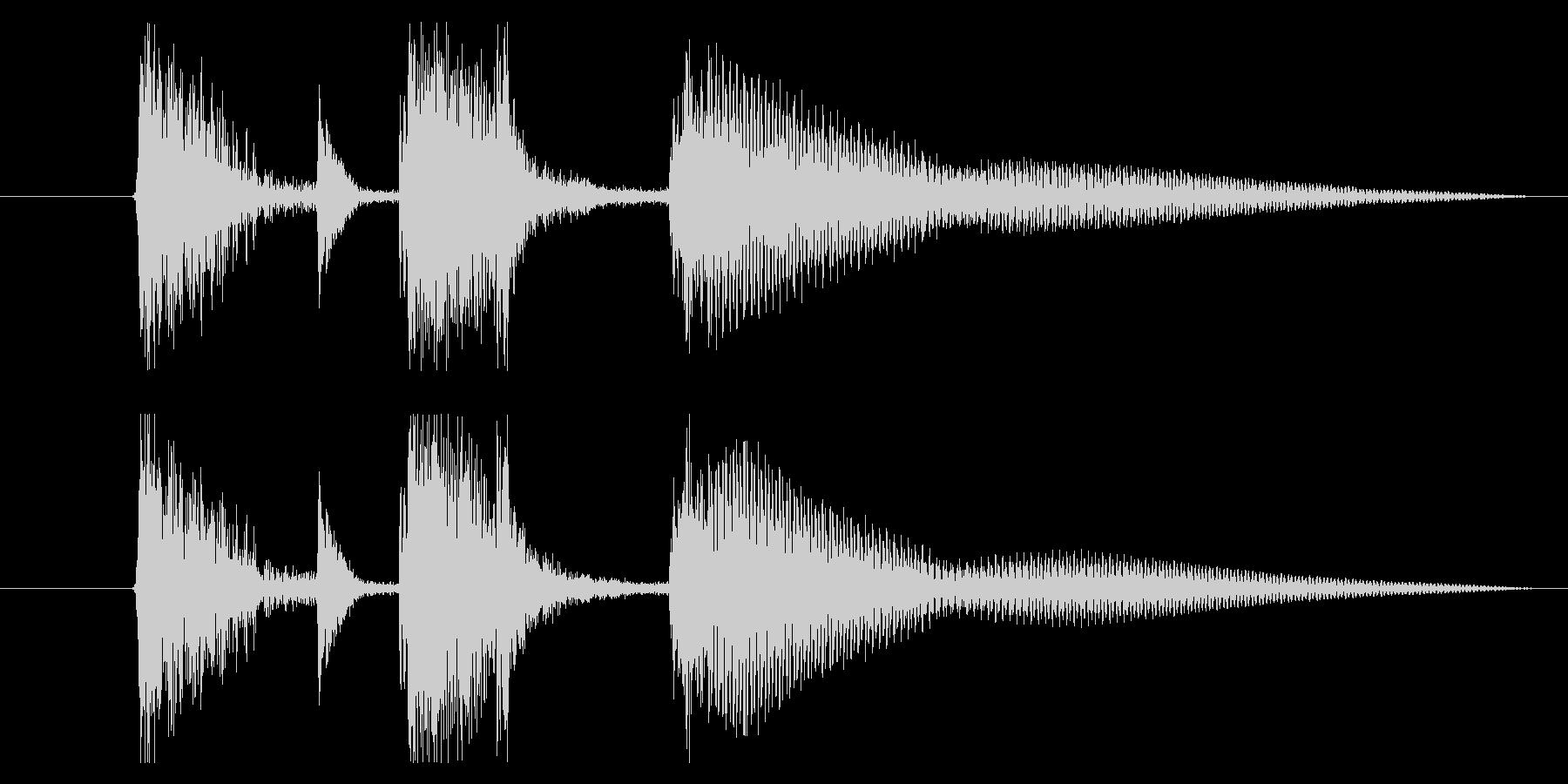 アコギとマリンバの爽やかジングル 1の未再生の波形