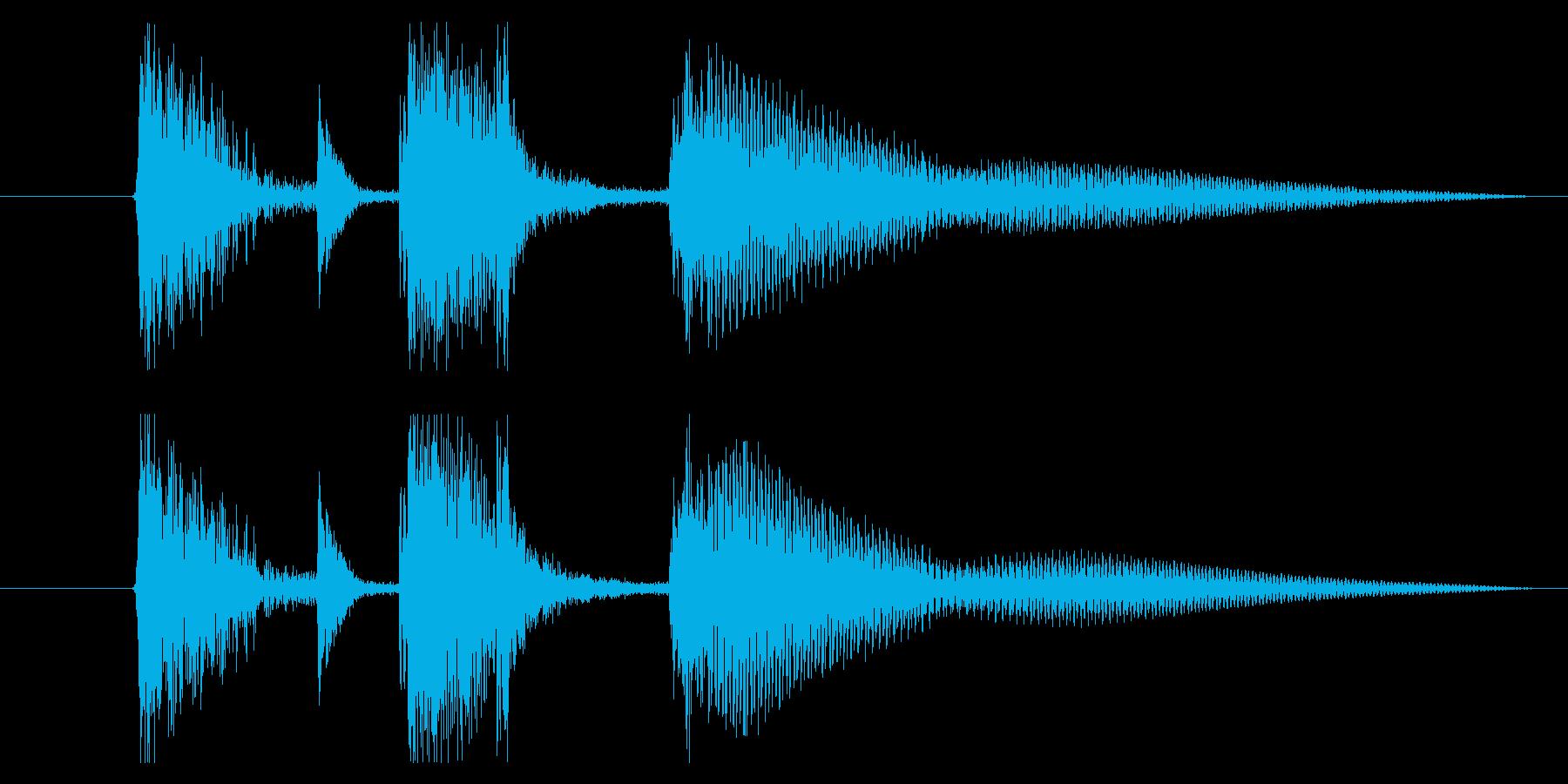 アコギとマリンバの爽やかジングル 1の再生済みの波形