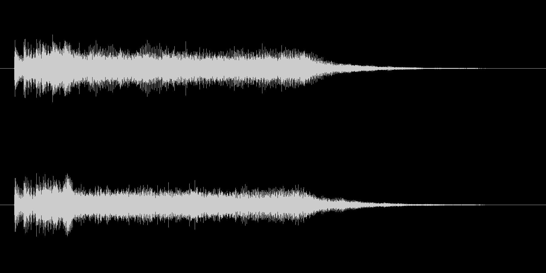 締め感のあるシンセサイザーの未再生の波形