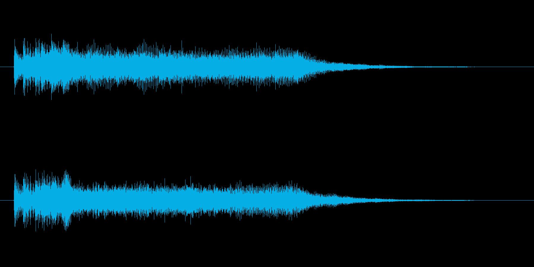 締め感のあるシンセサイザーの再生済みの波形