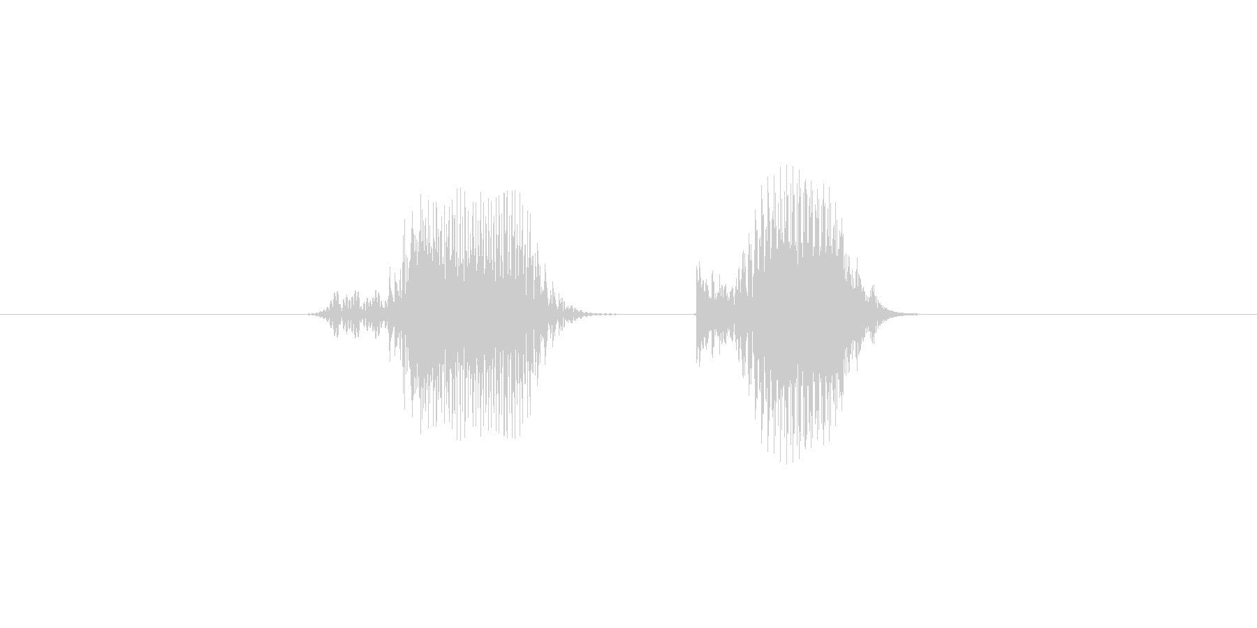 6(数字、男の子、少年)の未再生の波形