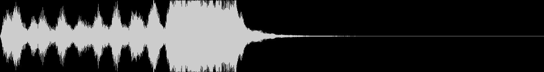 オーケストラによる入場のファンファーレの未再生の波形