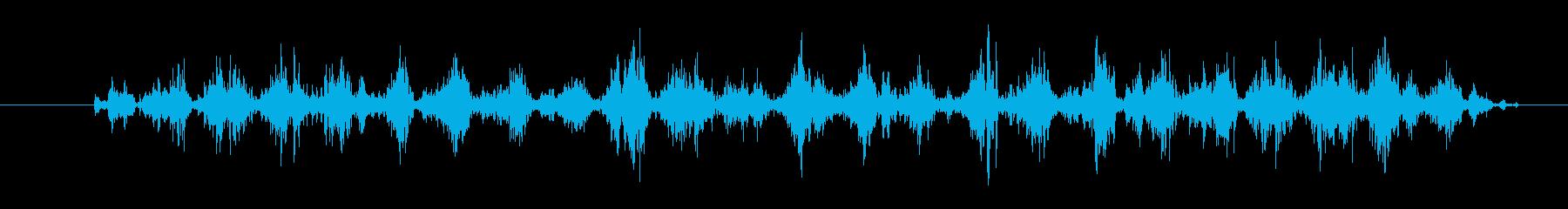 カサコソの再生済みの波形