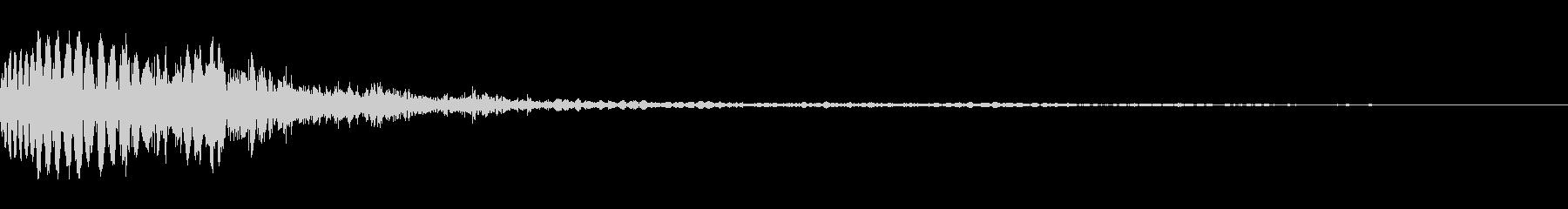 ダメージ音.01の未再生の波形