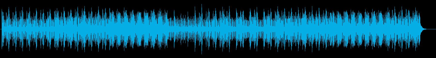 アップテンポのエレクトロポップスの再生済みの波形