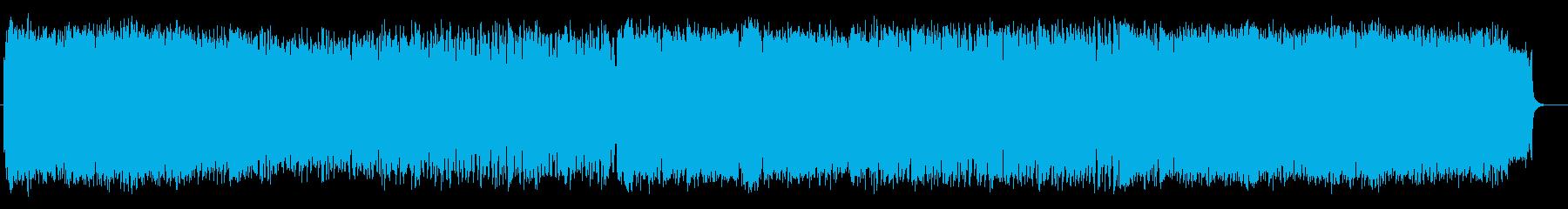 おしゃれなシンセサイザーのポップスの再生済みの波形