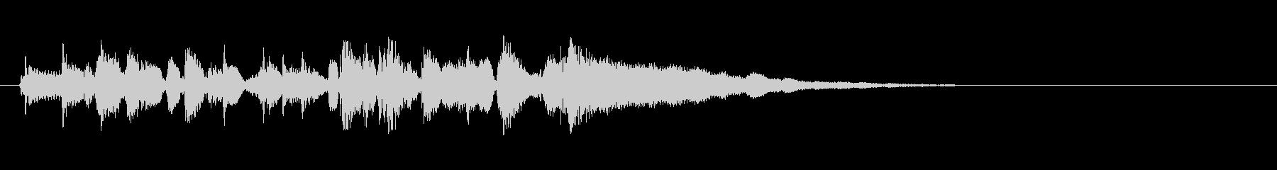 ヨーロッパ風バイオリンジャズジングルの未再生の波形