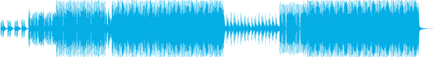おしゃれ系エレクトロミュージックの再生済みの波形