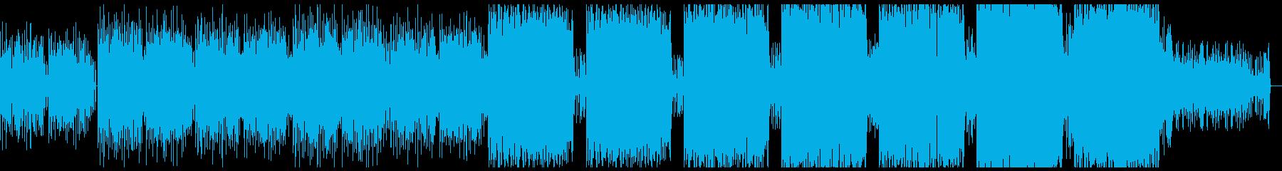 近未来感を感じさせるシンセ音とリズム感の再生済みの波形