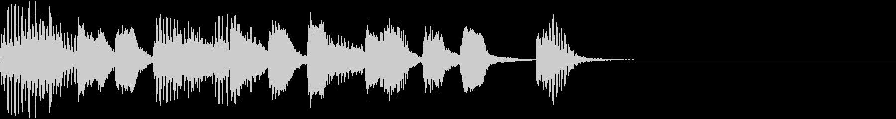 ファゴットとピアノによる怪しげなジングルの未再生の波形